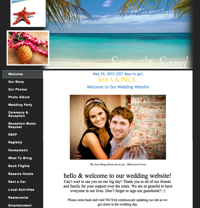 Wedding Website Welcome Message Under Fontanacountryinn Com