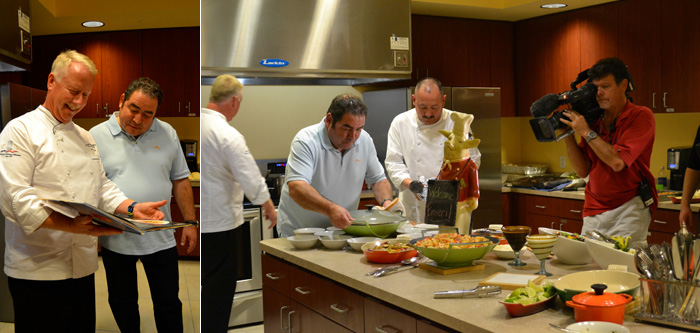 Celebrity Chef Emeril Cooks with Breakers' Chefs, Dines in HMF