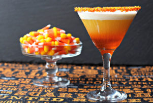 Trick-or-Tini: Candy Corn Martini