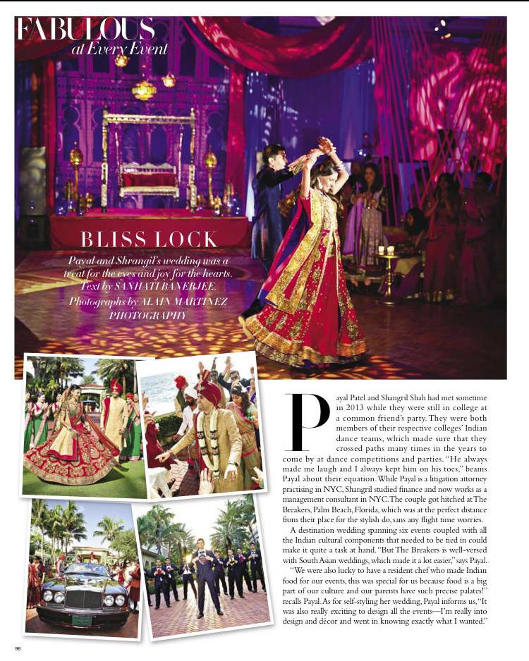 Breakers Wedding in Harper's Bazaar Bride