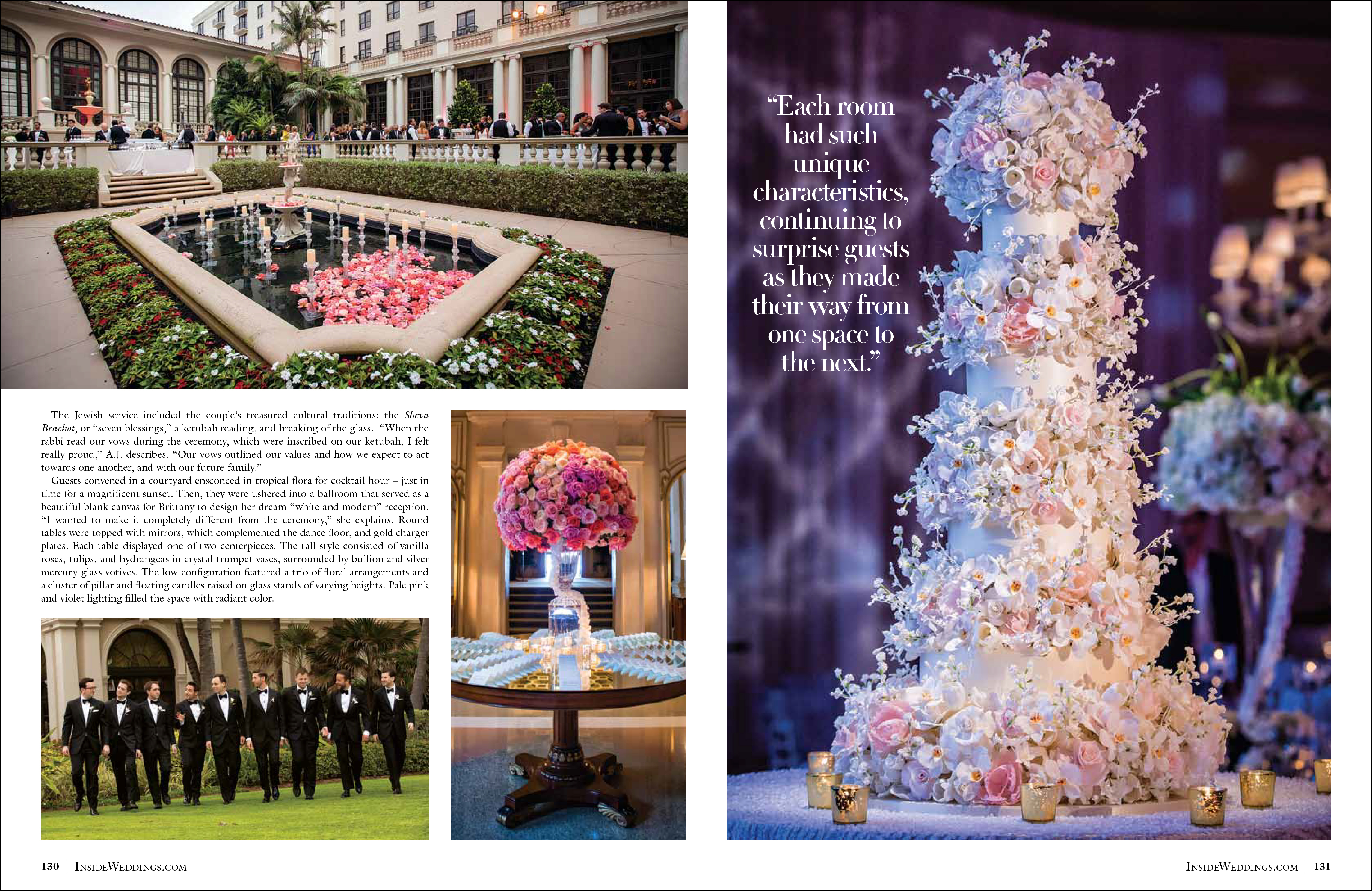Real Wedding: Brittany & AJ at The Breakers - Featured in Inside Weddings